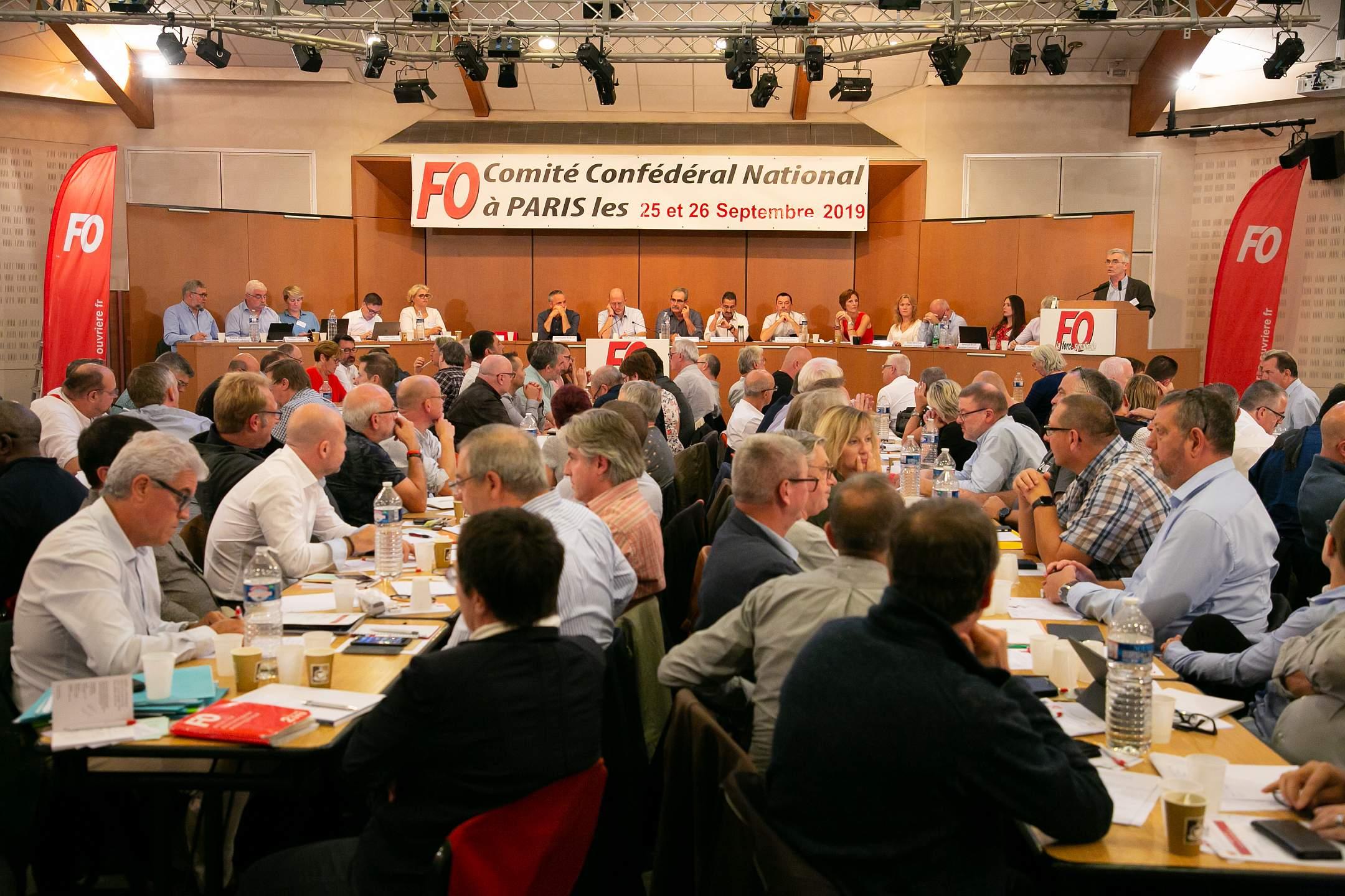 Le CCN de FO propose de rejoindre par un appel interprofessionnel, la grève unie des syndicats de la RATP et des transports à compter du 5 12 prochain pour le retrait du projet Macron/Delevoye