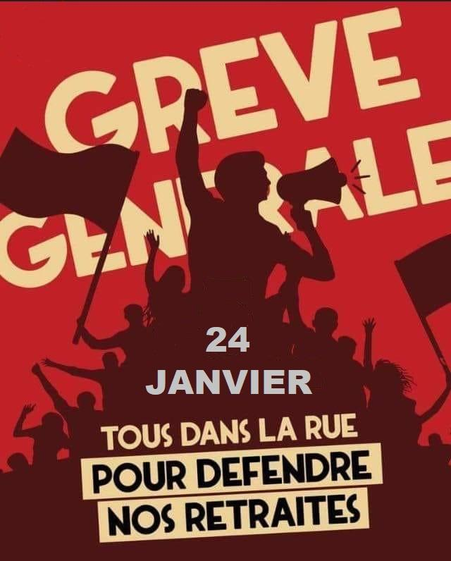 Conseil des ministres le 24 janvier – grève et manifestation